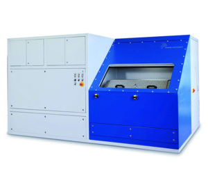 Poppe + Potthoff Burst Pressure Test Bench up to 15000 bar and a large test chamber with sliding door